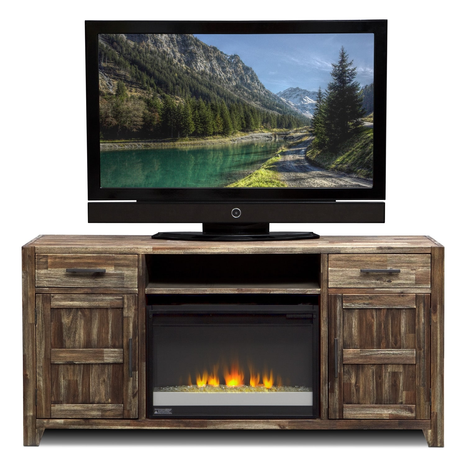 Hutchinson Entertainment Wall Units Fireplace TV Stand