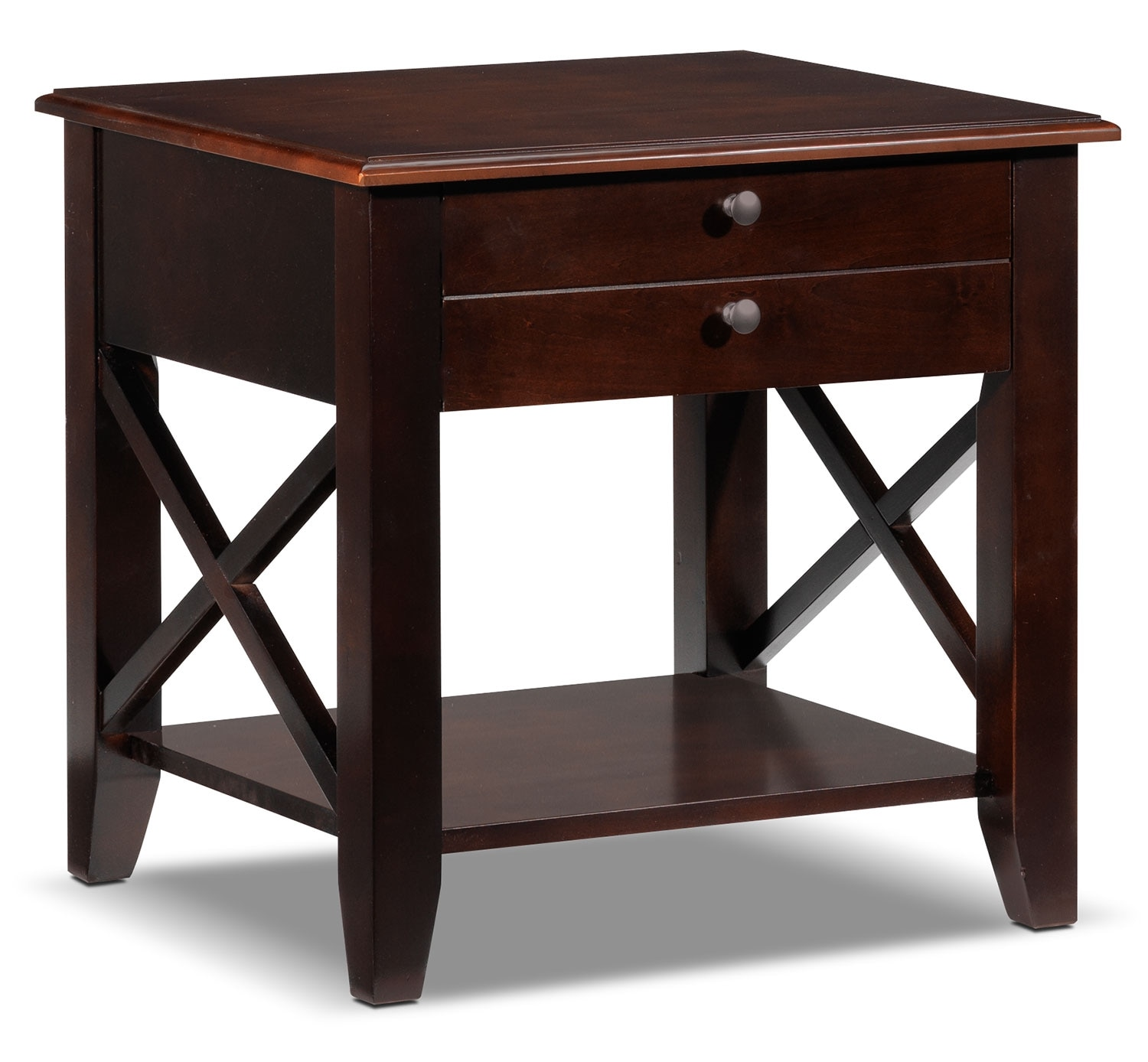 Accent and Occasional Furniture - Andover End Table - Brown Cherry