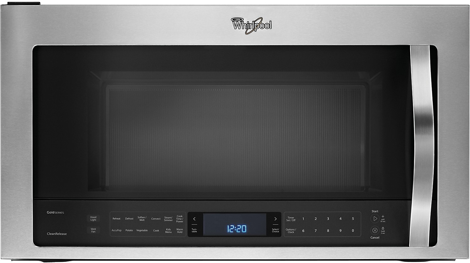 Cooking Products - Whirlpool® 1.9 Cu. Ft. Over-the-Range Microwave – Stainless Steel