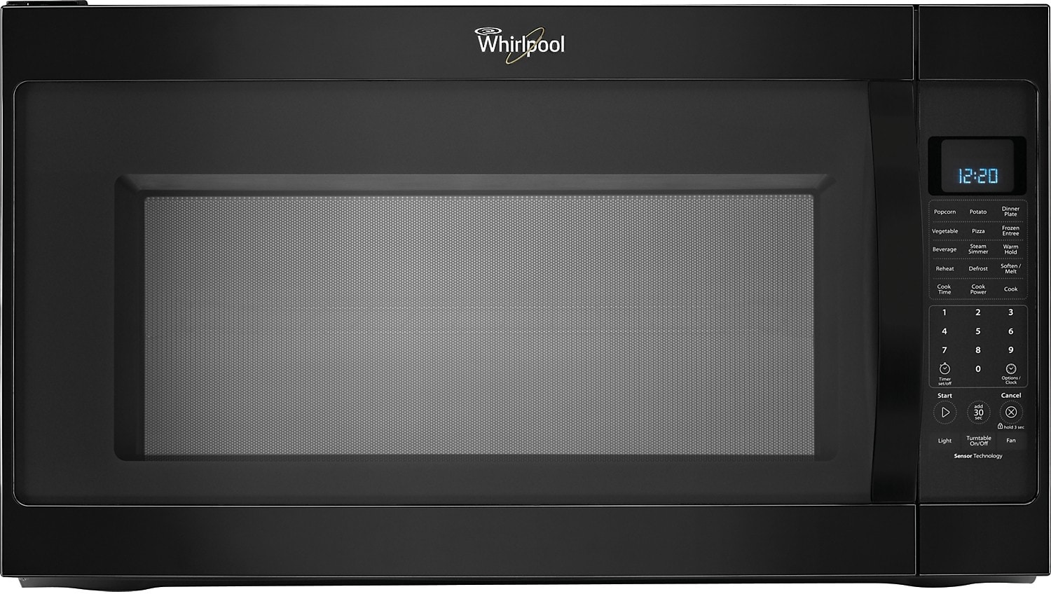 Cooking Products - Whirlpool® 2.0 Cu. Ft. Over-the-Range Microwave – Black Ice