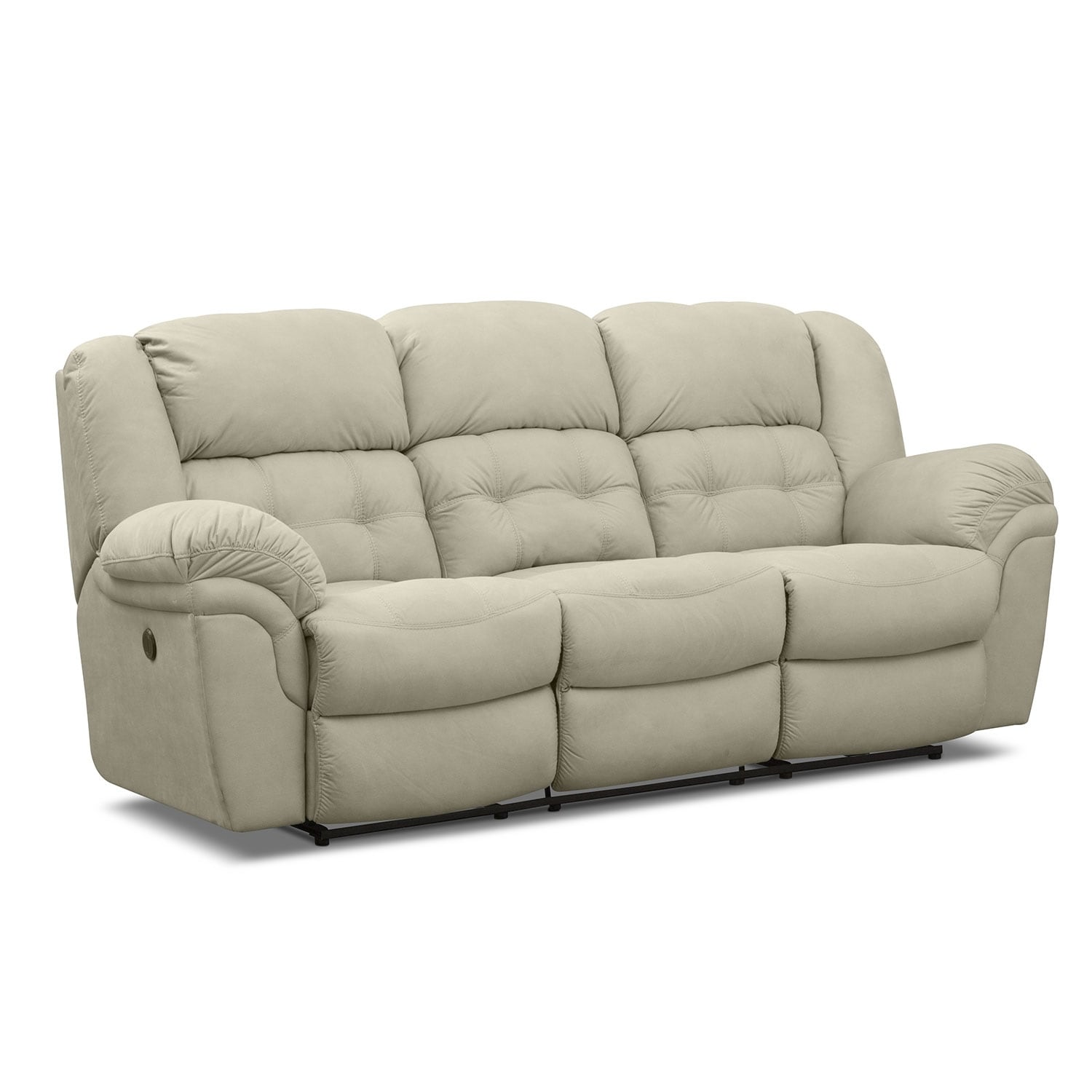 Benton beige reclining sofa Loveseats that recline