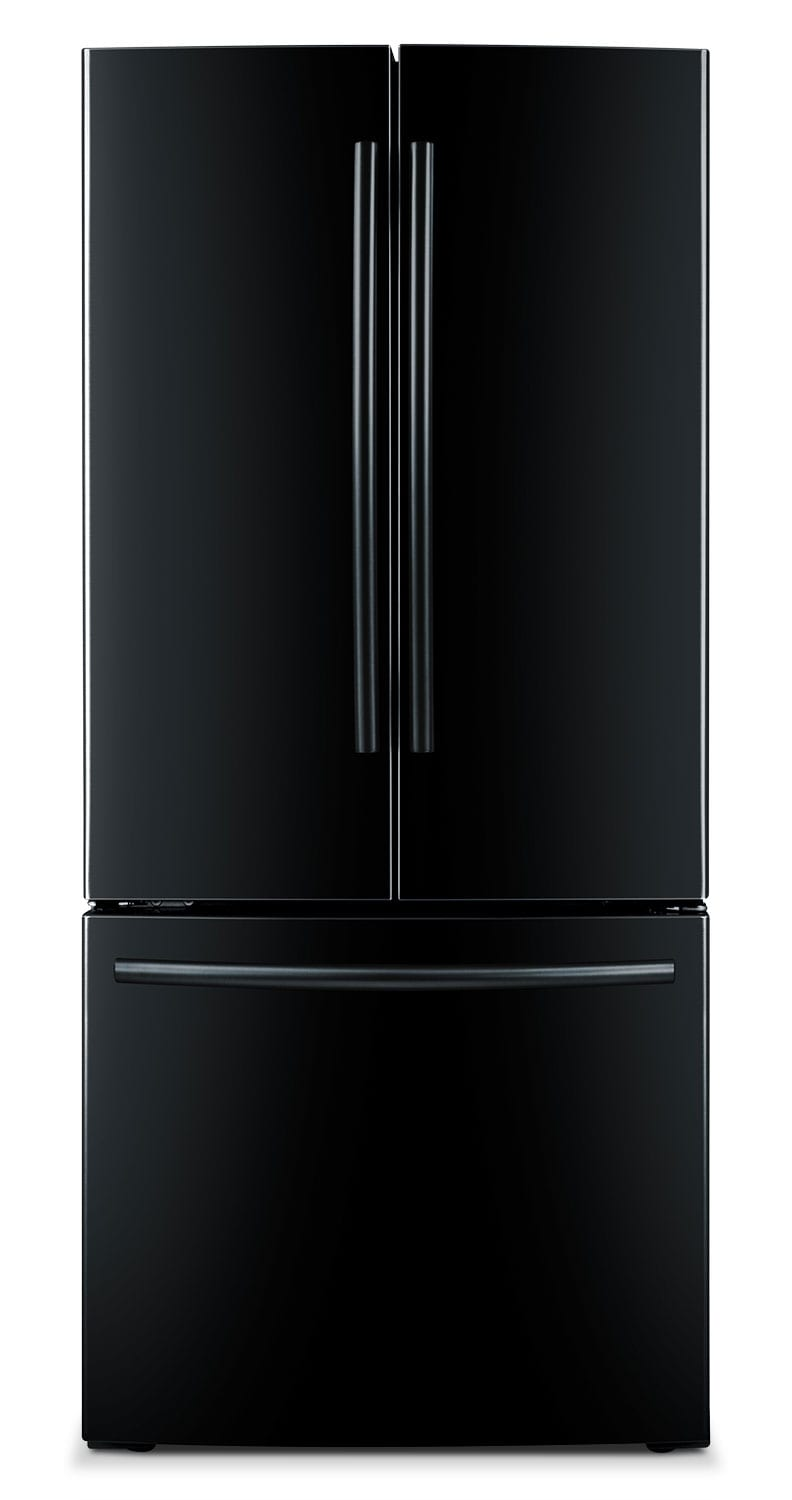Refrigerators and Freezers - Samsung Black French Door Refrigerator (21.6 Cu. Ft.) - RF220NCTABC