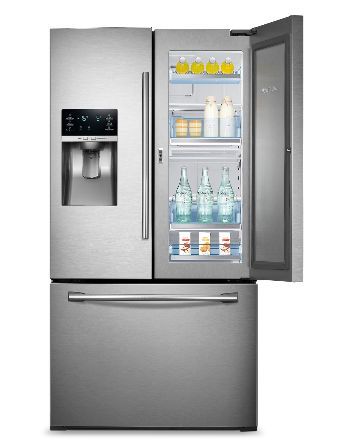 Samsung Stainless Steel French Door Refrigerator (27.8 Cu. Ft.) - RF28HDEDBSR