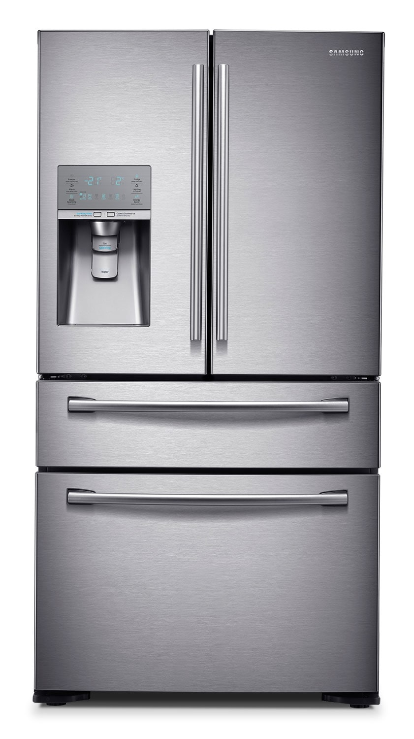 [Samsung Stainless Steel French Door Refrigerator (22.6 Cu. Ft.) - RF23HSESBSR]