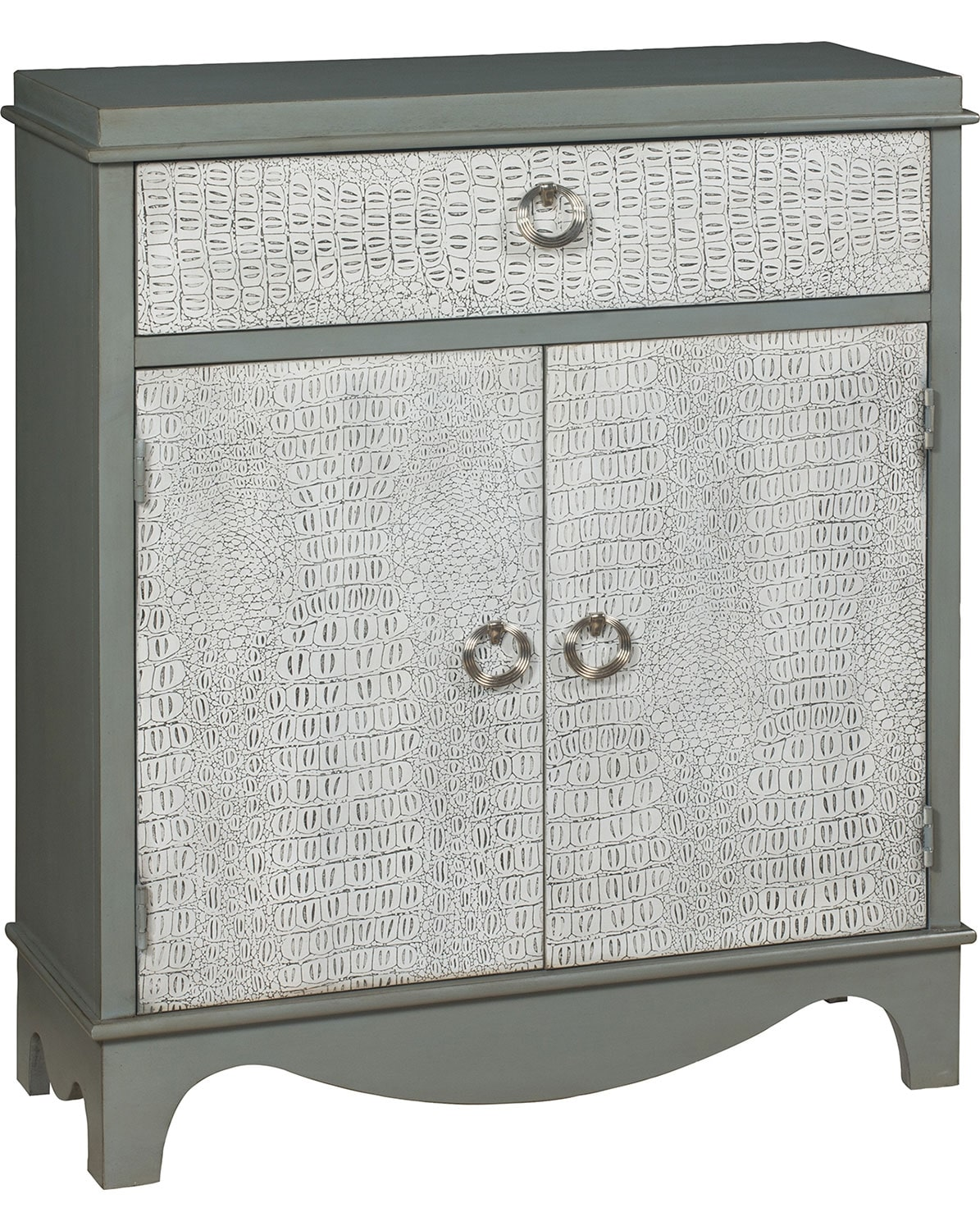 Accent and Occasional Furniture - Lagarto Accent Cabinet – Two-Tone Grey