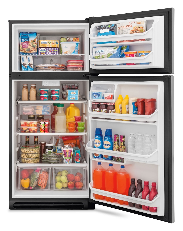 Frigidaire Stainless Steel Top-Freezer Refrigerator (18 Cu. Ft ...