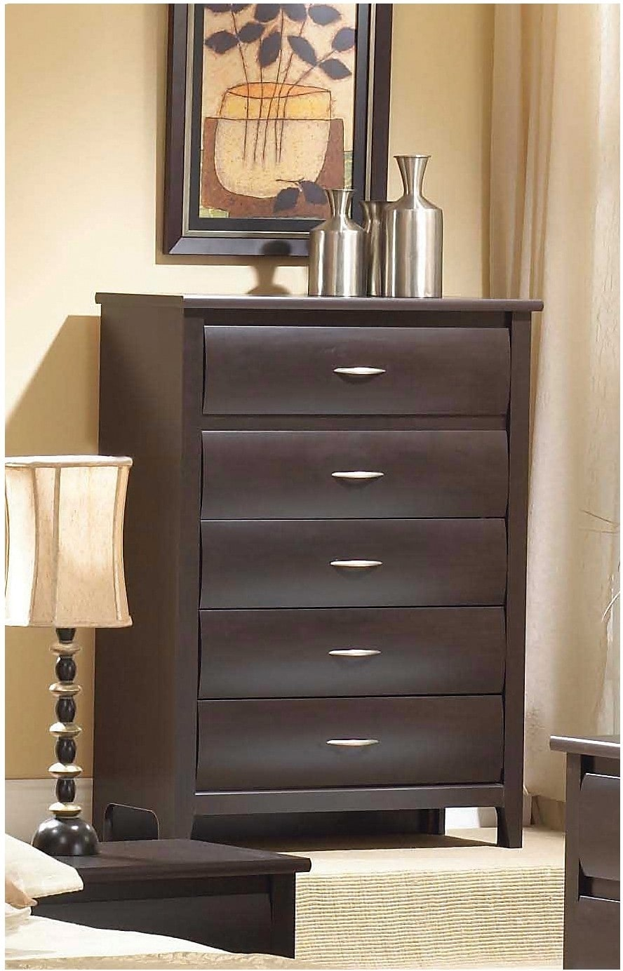 Mocha 5-Drawer Chest