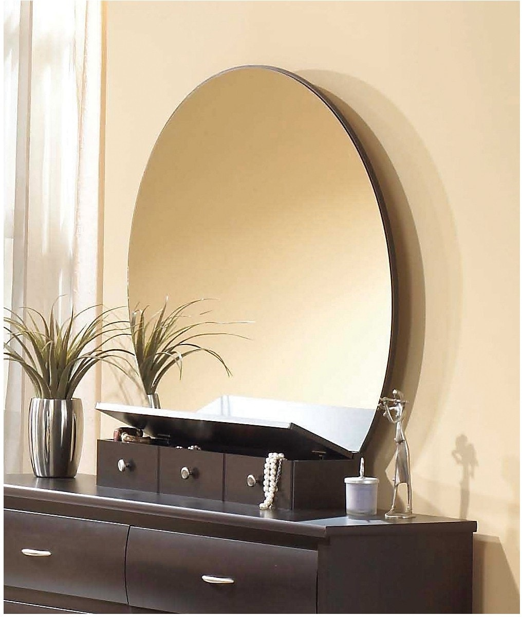 Bedroom Furniture - Mocha Oval Mirror