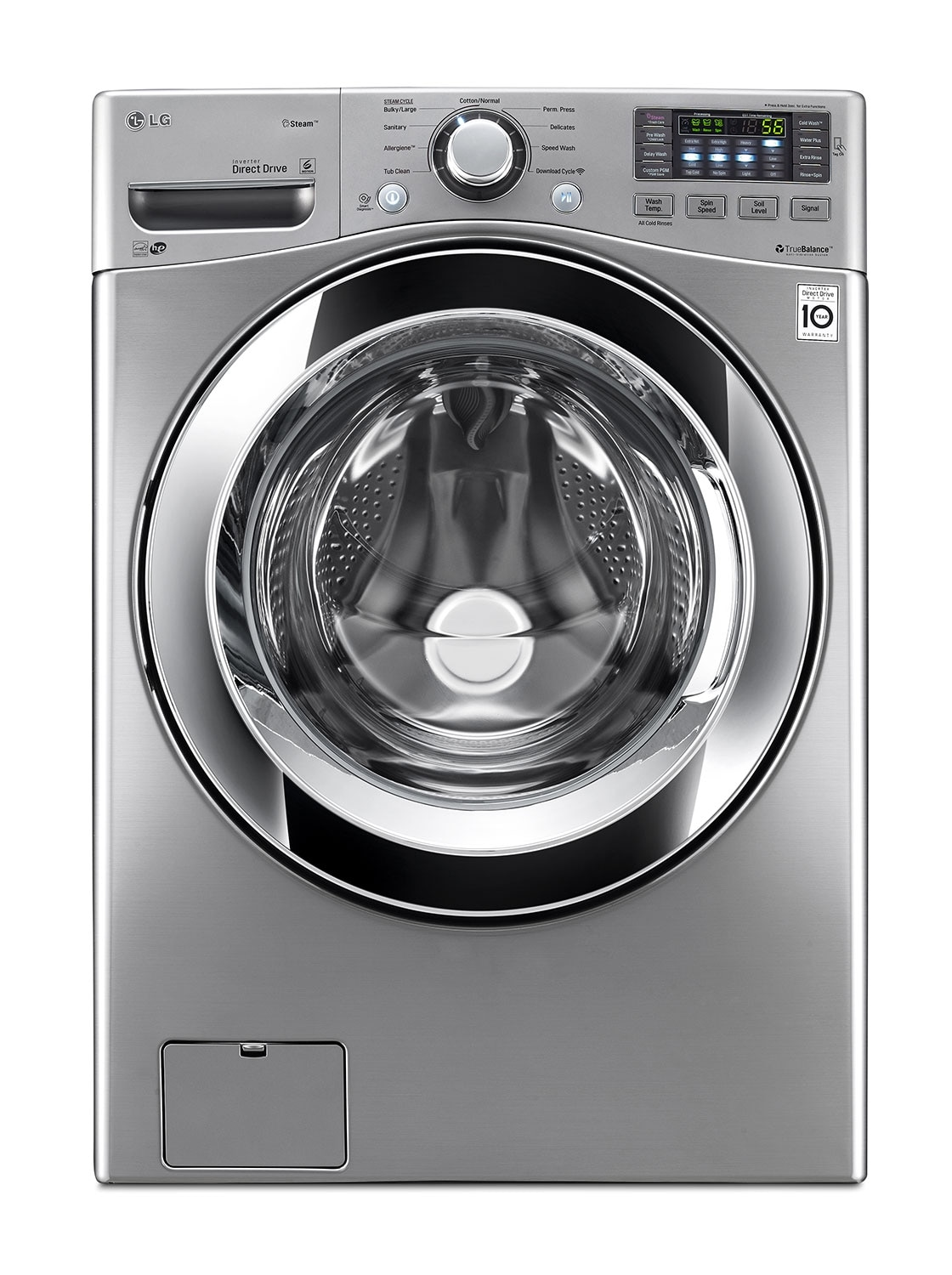 Washers and Dryers - LG Appiances Graphite Steel Front-Load Washer (5.0 Cu. Ft.) - WM3370HVA