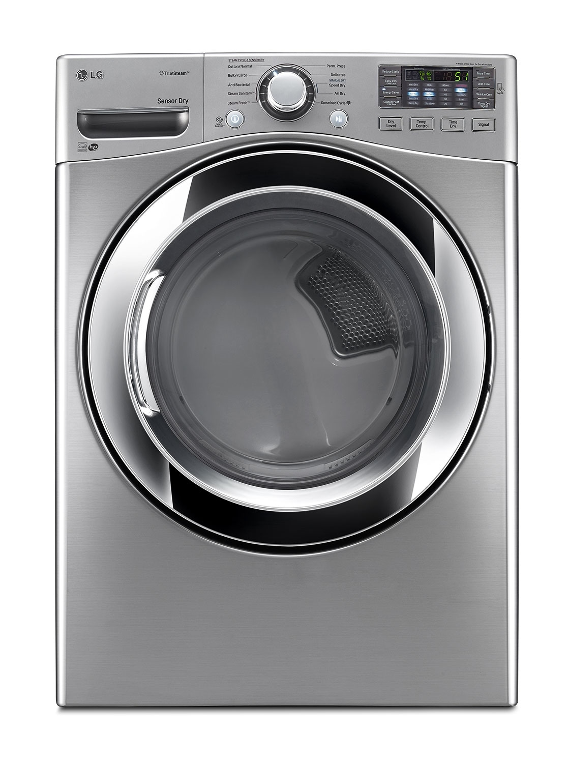 Washers and Dryers - LG Graphite Steel Electric Dryer (7.4 Cu. Ft.) - DLEX3370V