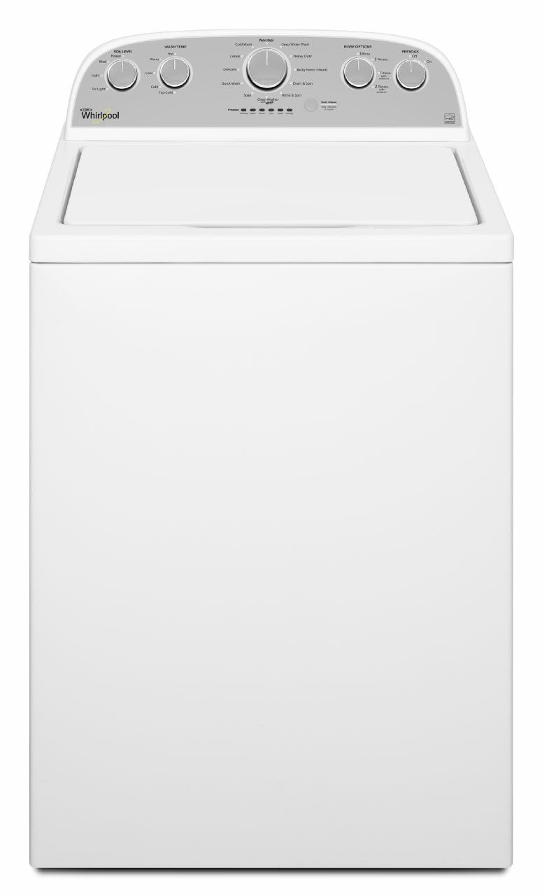 Washers and Dryers - Whirlpool White Top-Load Washer (5.0 Cu. Ft. IEC) - WTW5000DW