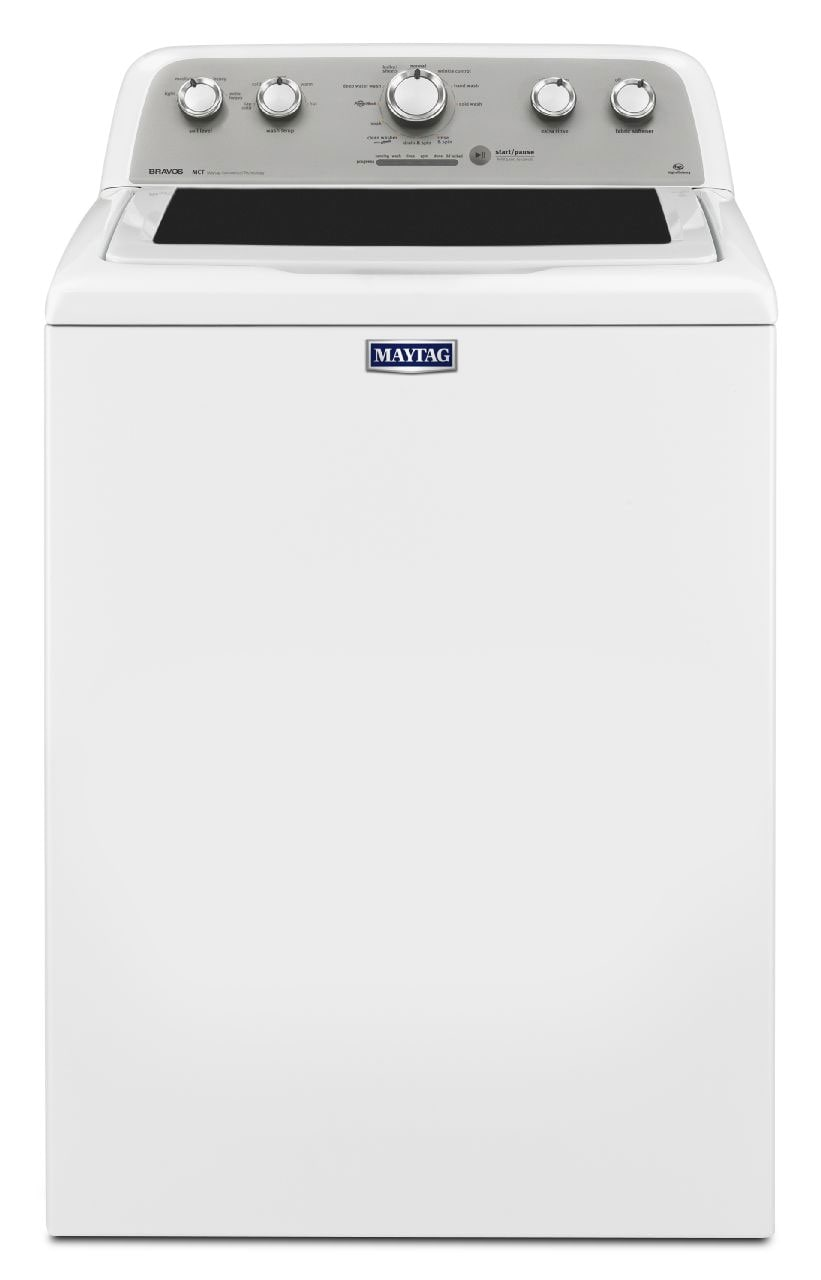 Washers and Dryers - Maytag White Top-Load Washer (5.0 Cu. Ft. IEC) - MVWX655DW
