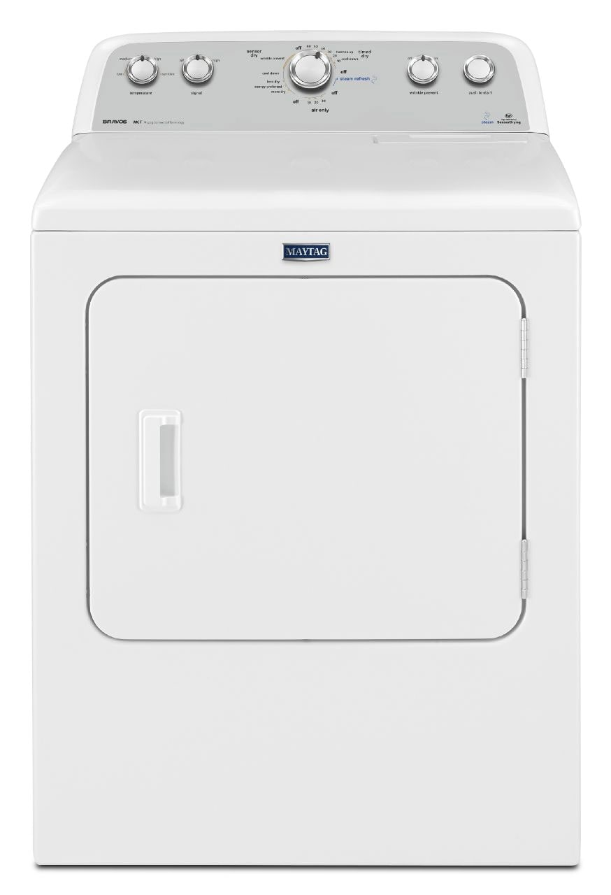 Washers and Dryers - Maytag White Electric Dryer (7.0 Cu. Ft.) - YMEDX6STBW