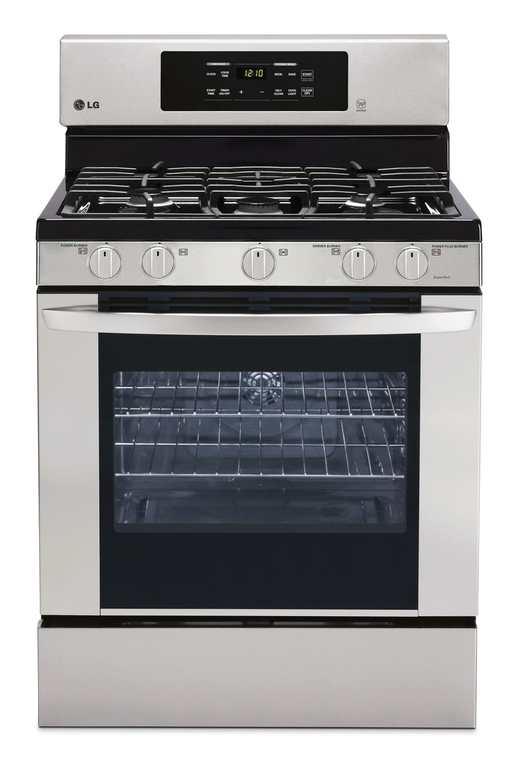 Cooking Products - LG Stainless Steel Freestanding Gas Range (5.4 Cu.Ft) - LRG3081ST