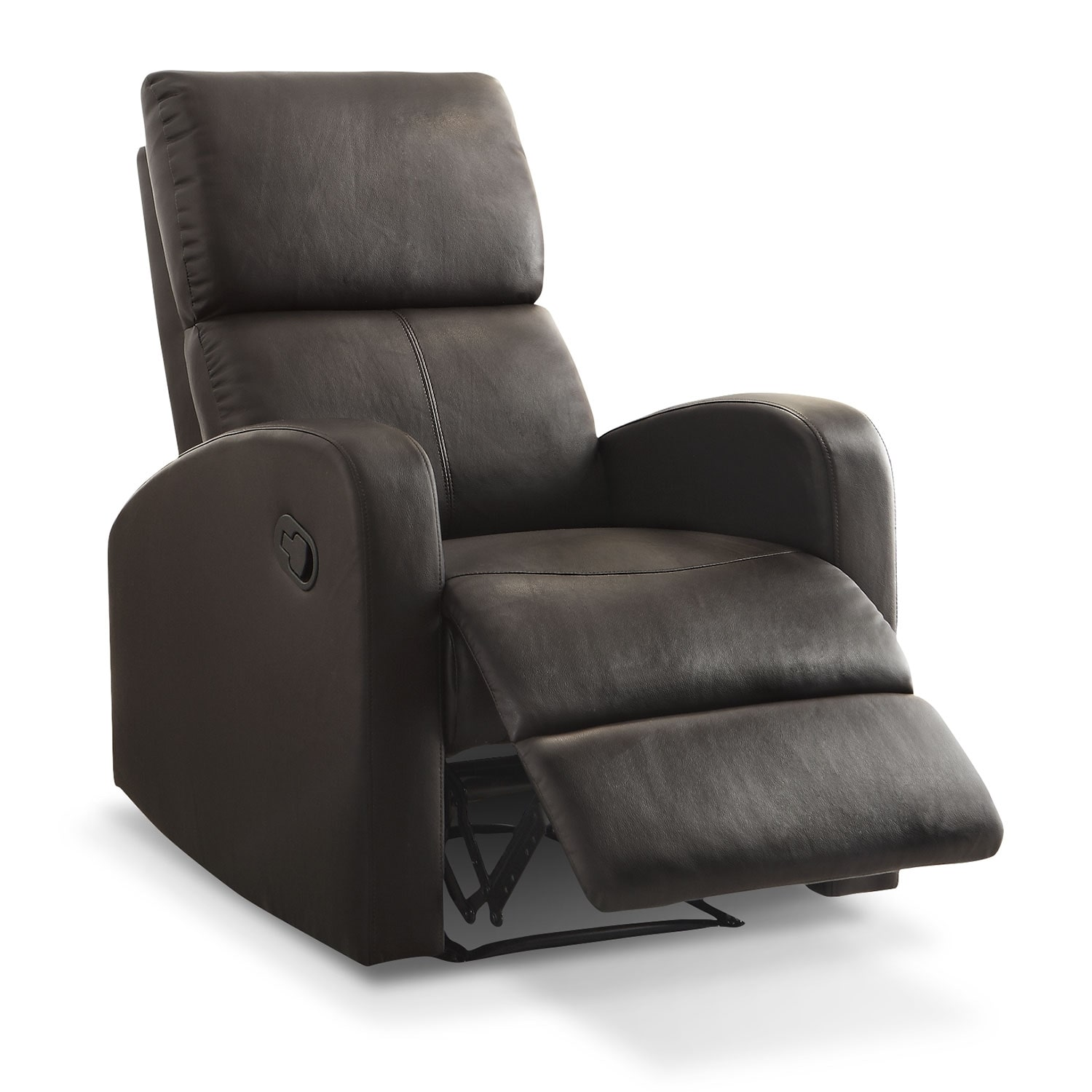 Living Room Furniture - Benning Recliner - Dark Brown