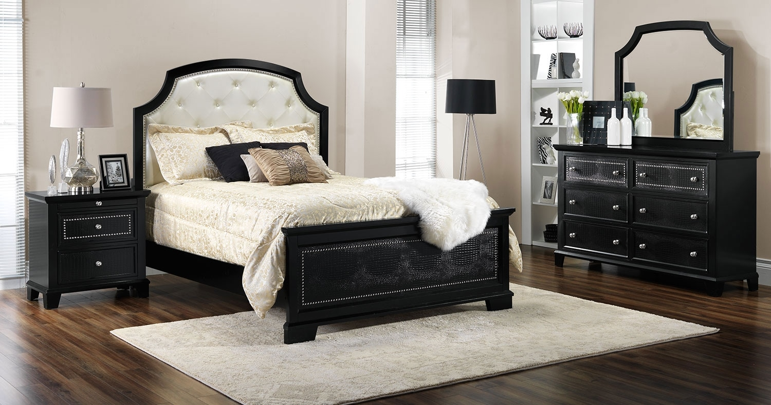 marlina 5 piece queen bedroom set espresso leon 39 s