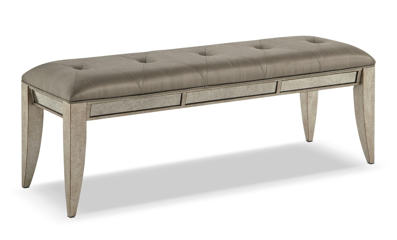 Bedroom Furniture - Farrah Bed Bench - Granite Sand