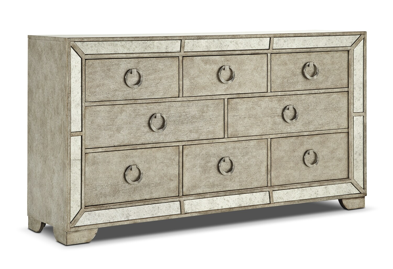 Bedroom Furniture - Farrah Dresser - Granite Sand