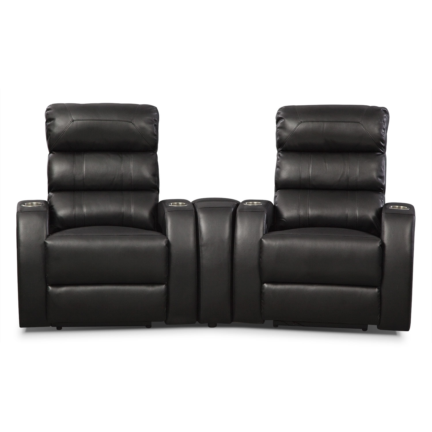 [Gemini 3 Pc. Power Home Theater Sectional]