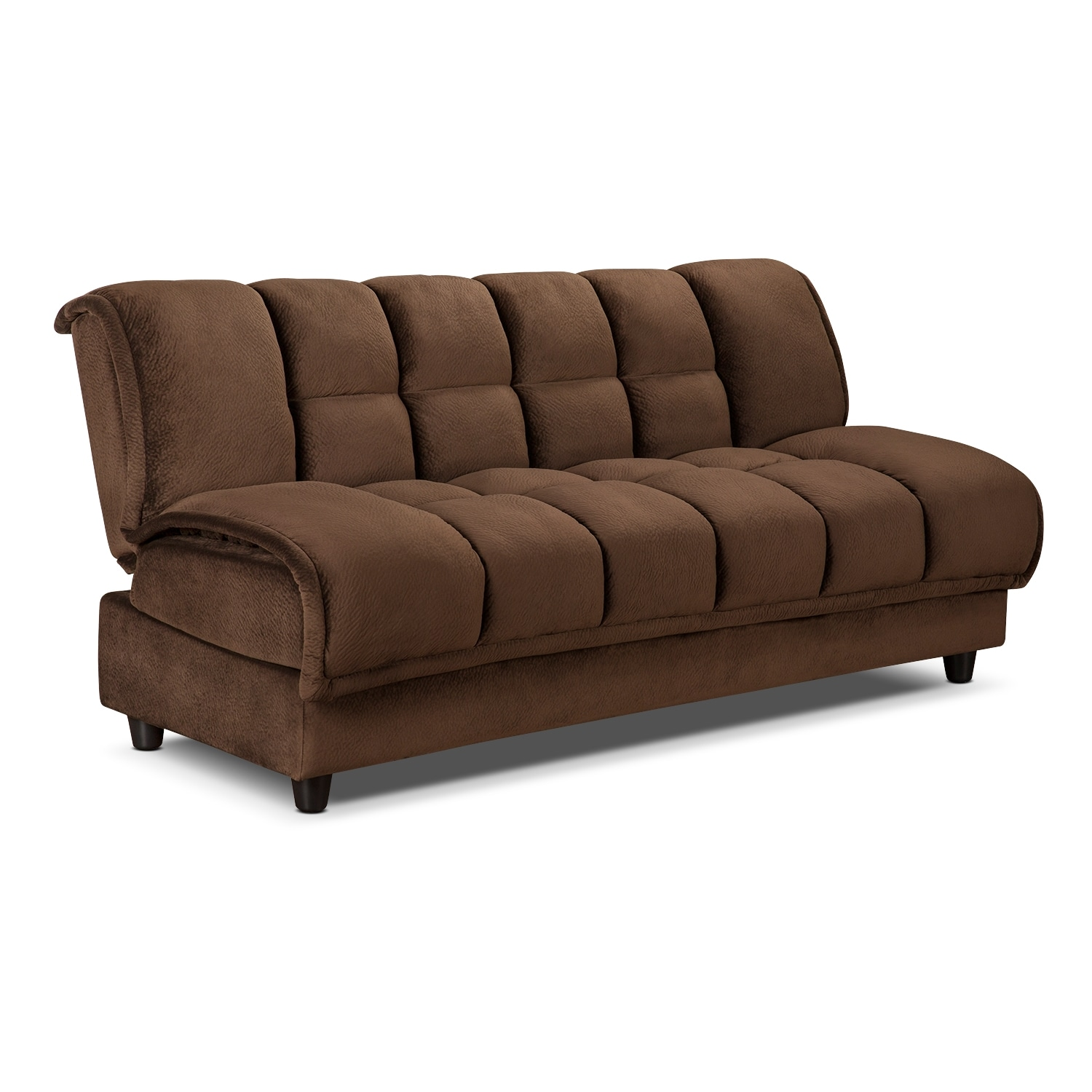 Bennett futon sofa bed espresso american signature for Sofa bed futon