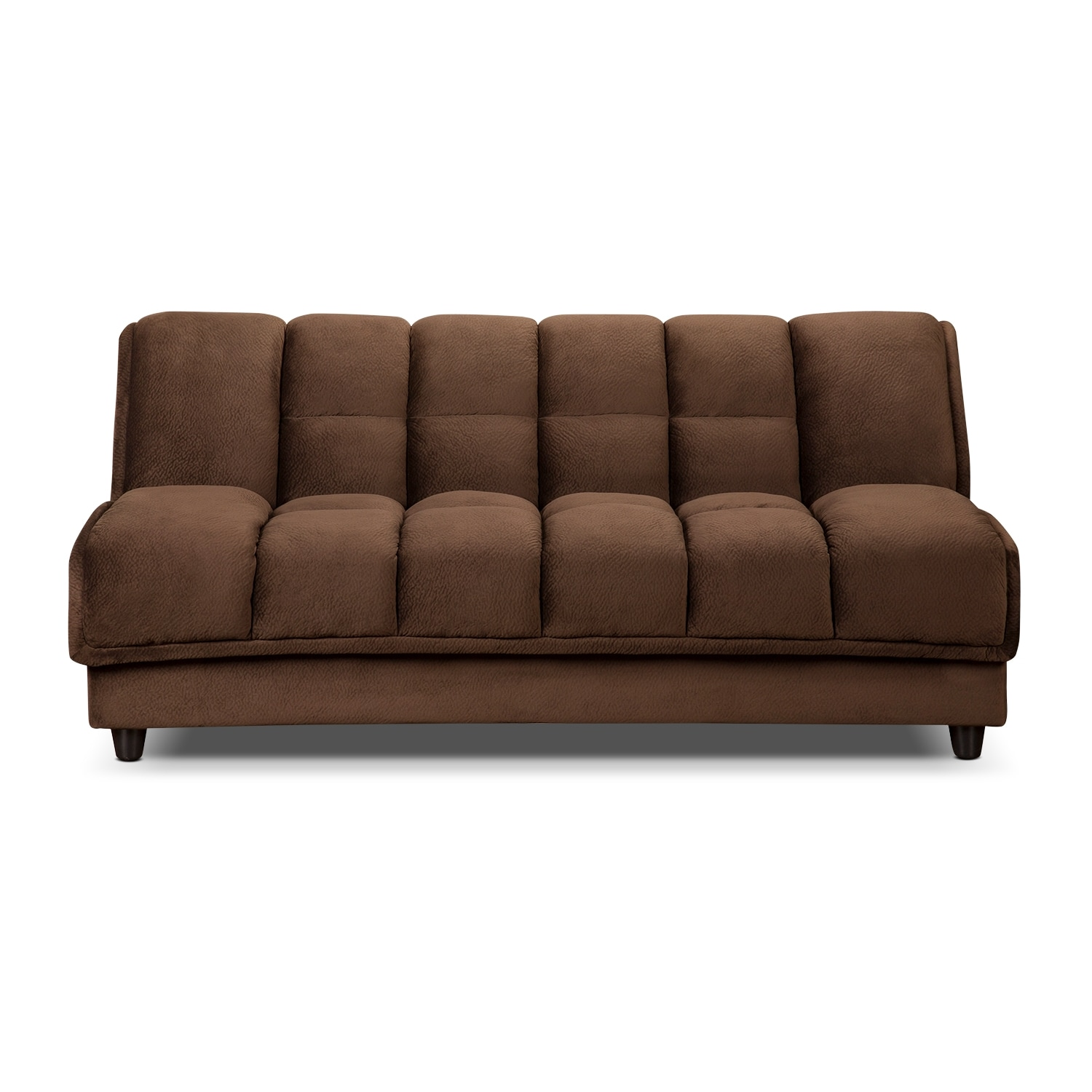Bennett futon sofa bed espresso american signature for Signature furniture