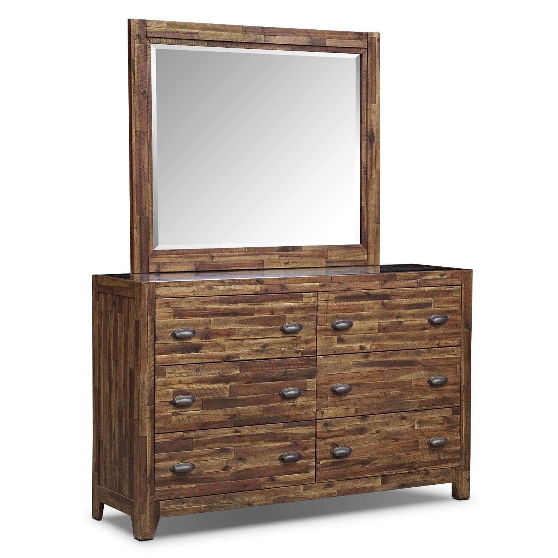 [Crosswoods Dresser & Mirror]
