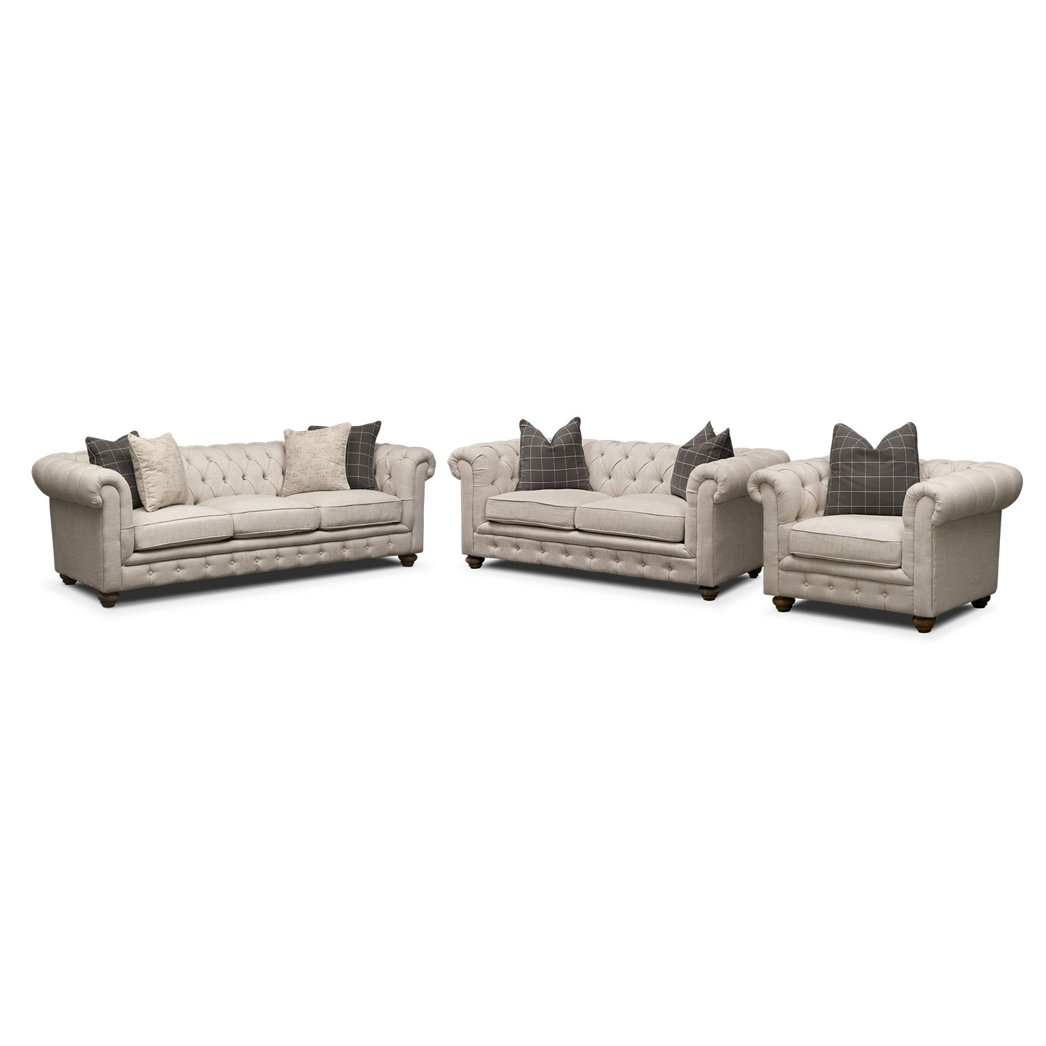 Madeline Sofa Apartment Sofa And Chair Set Beige American Signature Furn