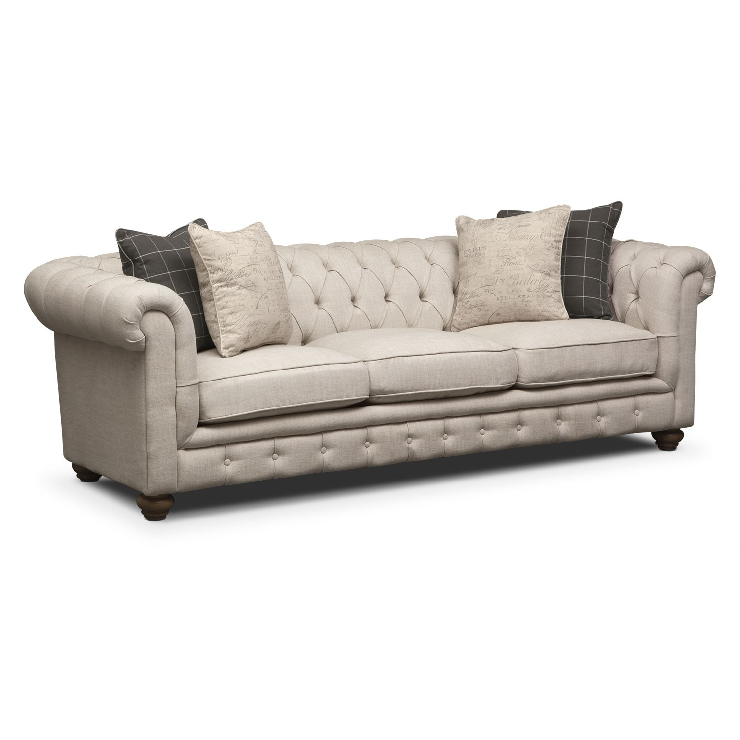 Living Room Furniture - Marquette Beige Sofa