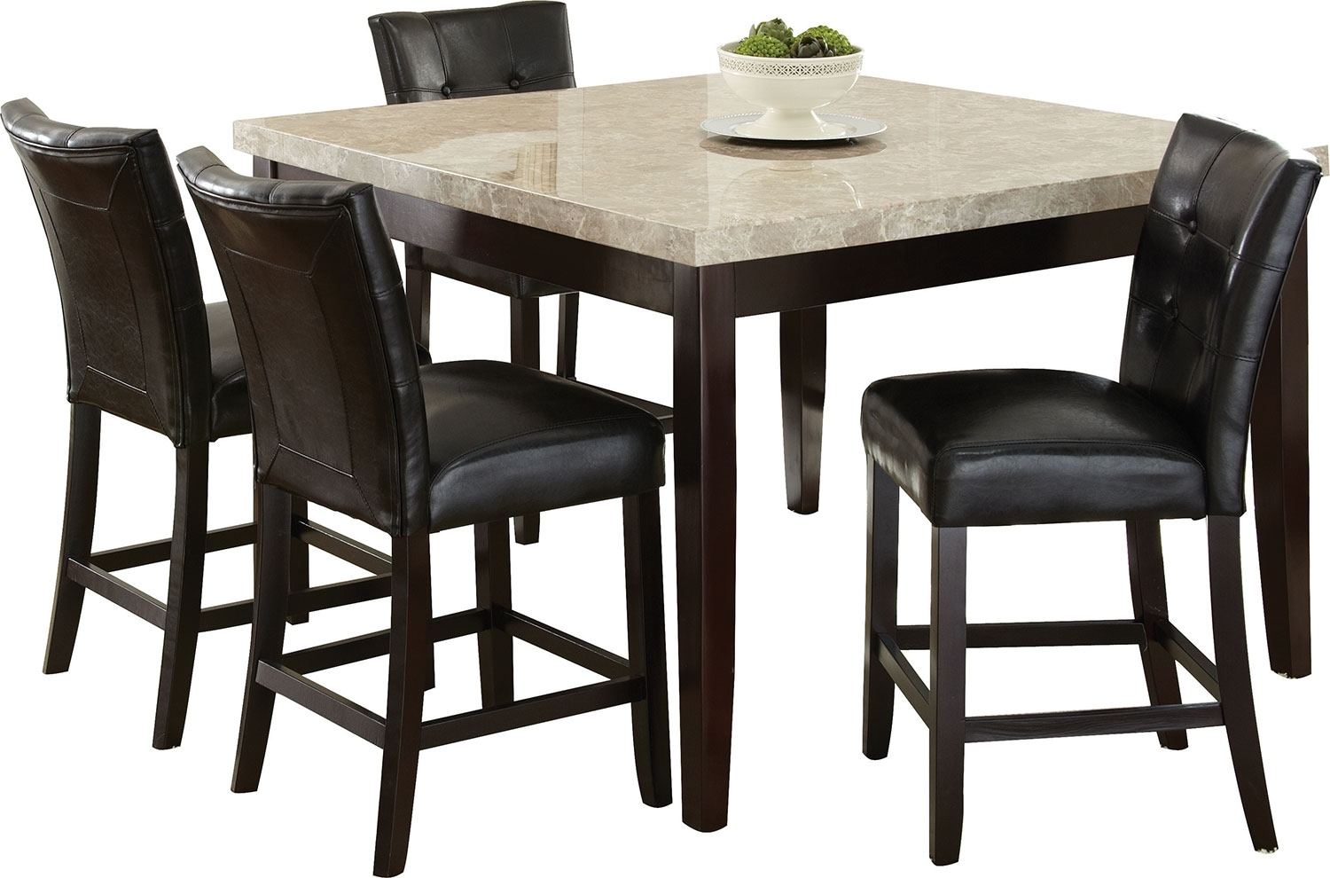 Dining Room Furniture - Montibello 5-Piece Counter-Height Dining Package