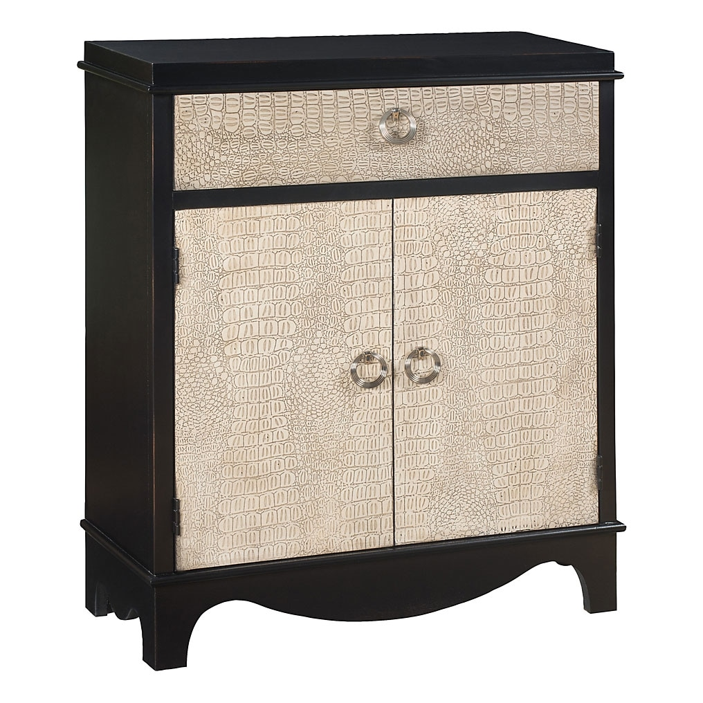 Accent and Occasional Furniture - Lagarto Accent Cabinet – Black and White