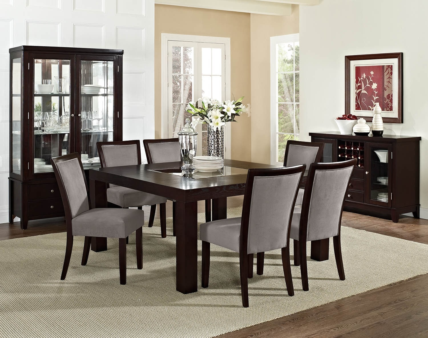 "Dining Room Furniture - The Karmon Gray Collection - 60"" Dining Table"