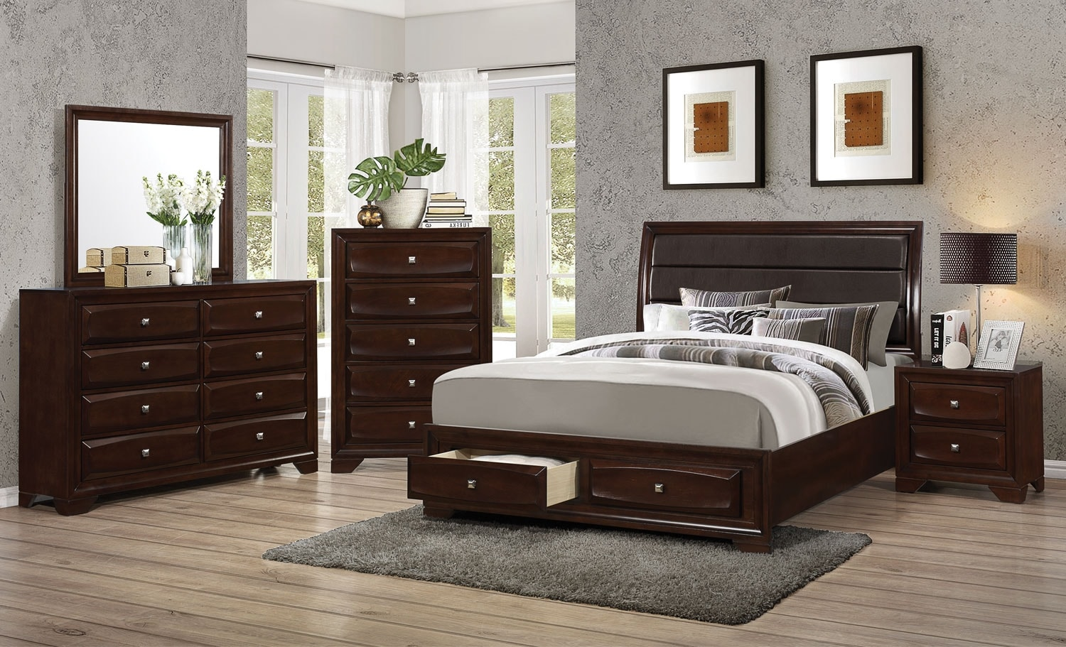 Bedroom Furniture - Jaxon 8-Piece King Storage Bedroom Package