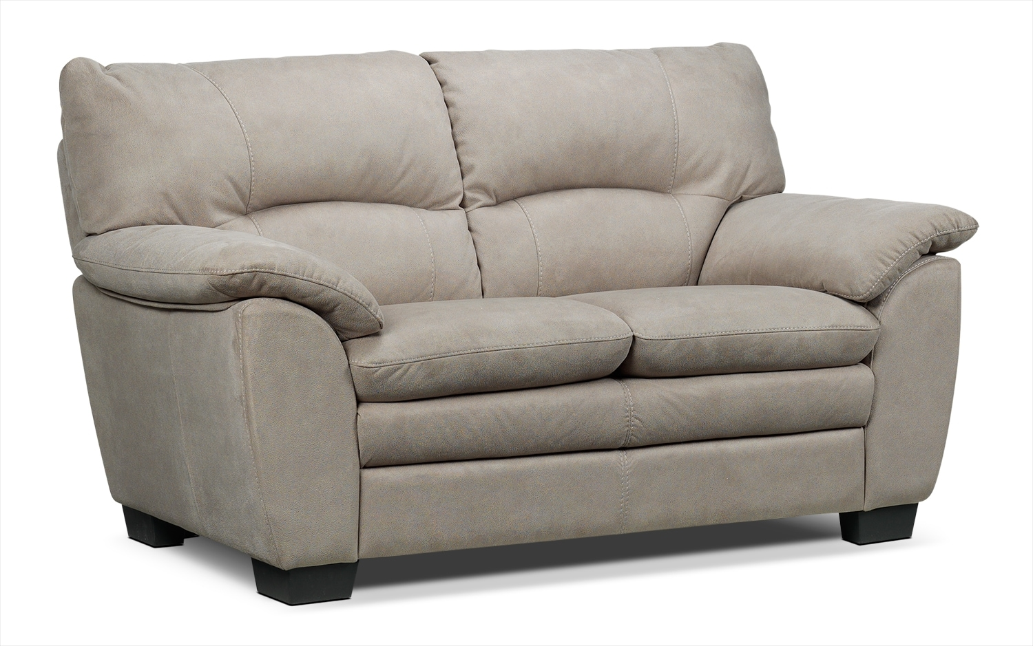 Living Room Furniture - Kelleher Loveseat -  Silver Grey