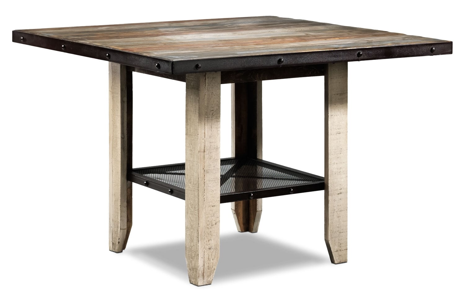 Allison Pine Pub Table - Antiqued Pine