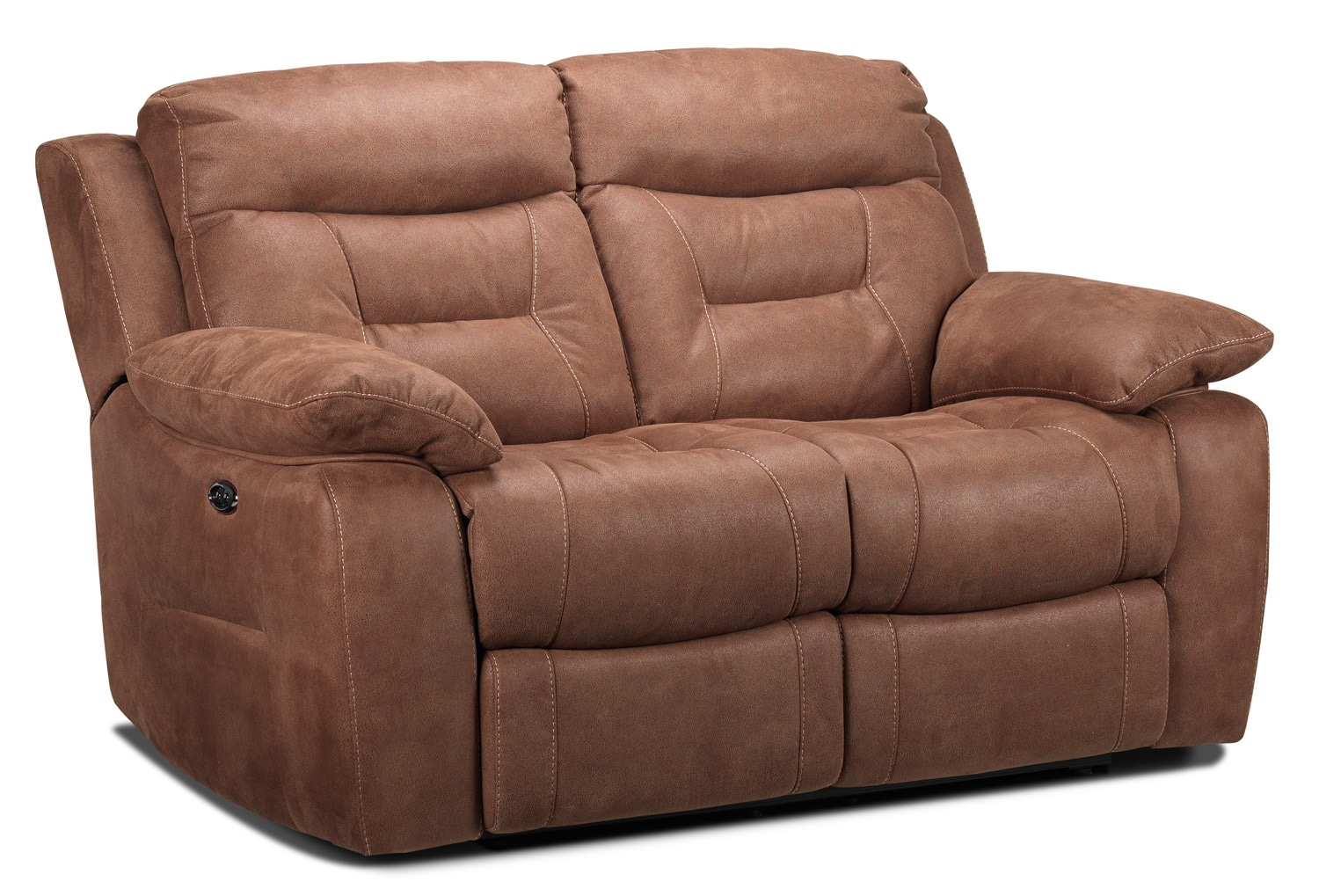 Living Room Furniture - Collins Power Reclining Loveseat - Hazelnut