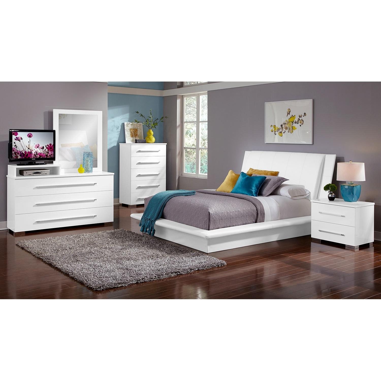 Dimora Bedroom Set White Dimora White Bedroom 7 Pc King Bedroom Value City Furniture
