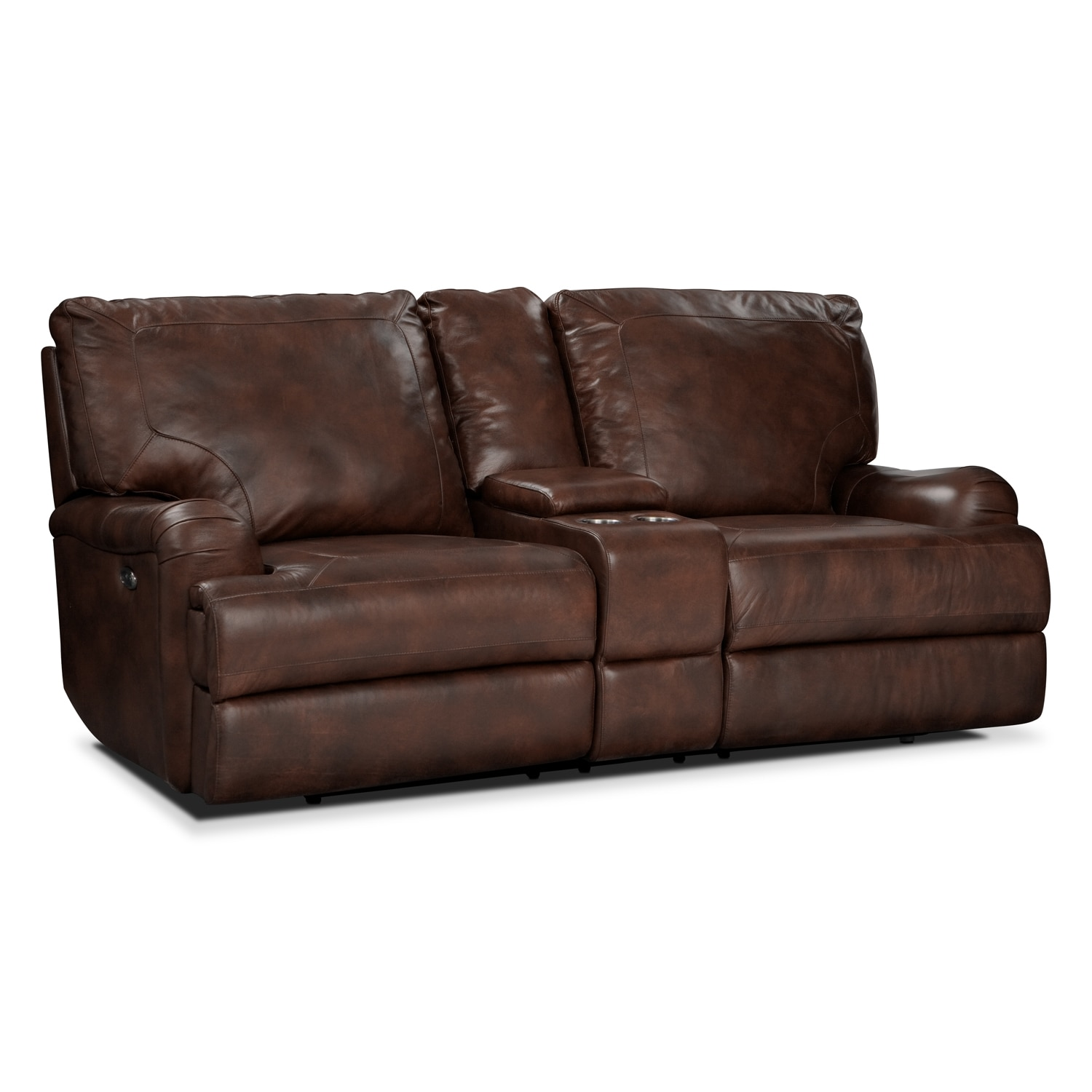 [Kingsway Power Reclining Loveseat with Console]