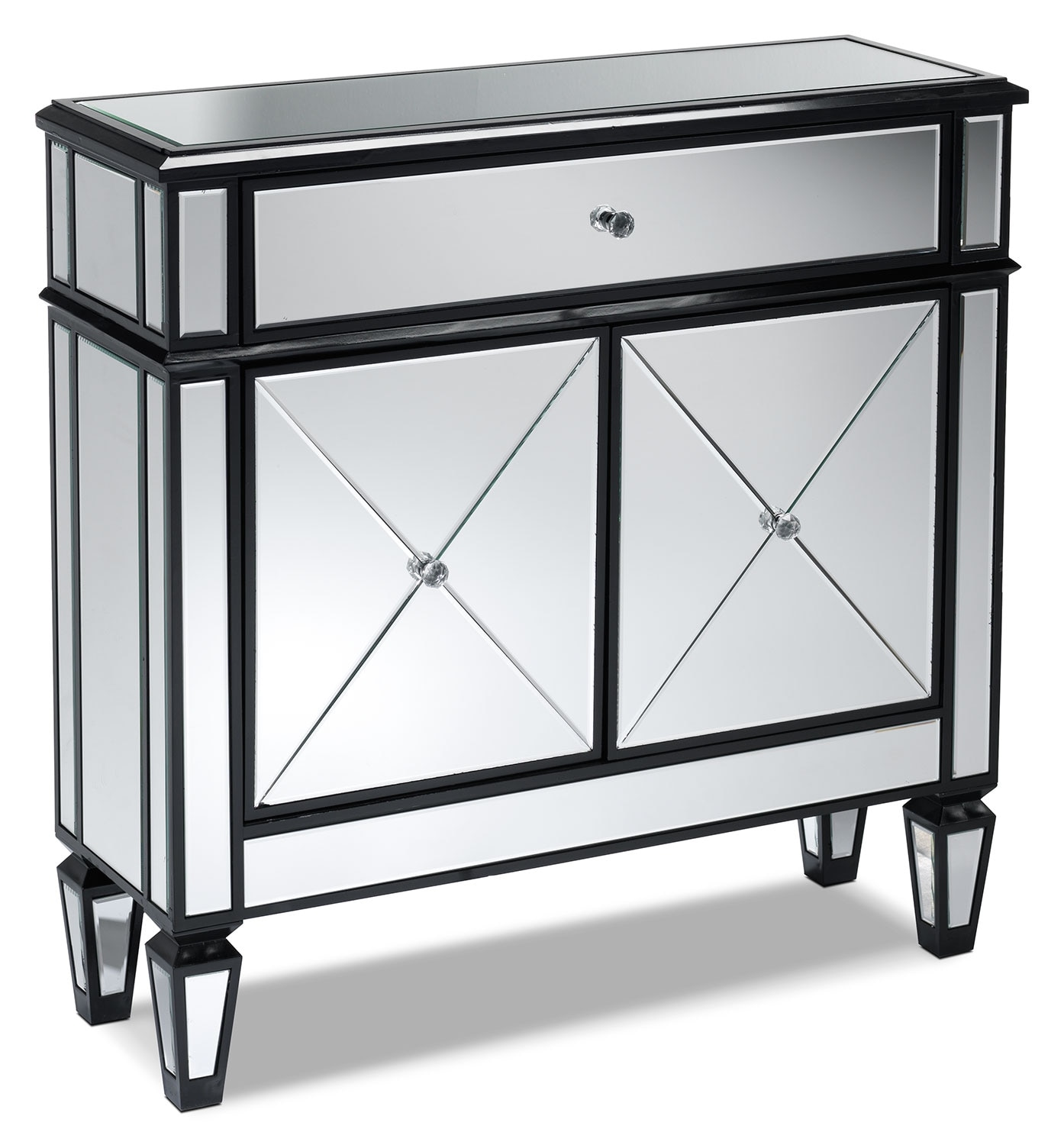 Accent and Occasional Furniture - Hearst Console Table - Silver