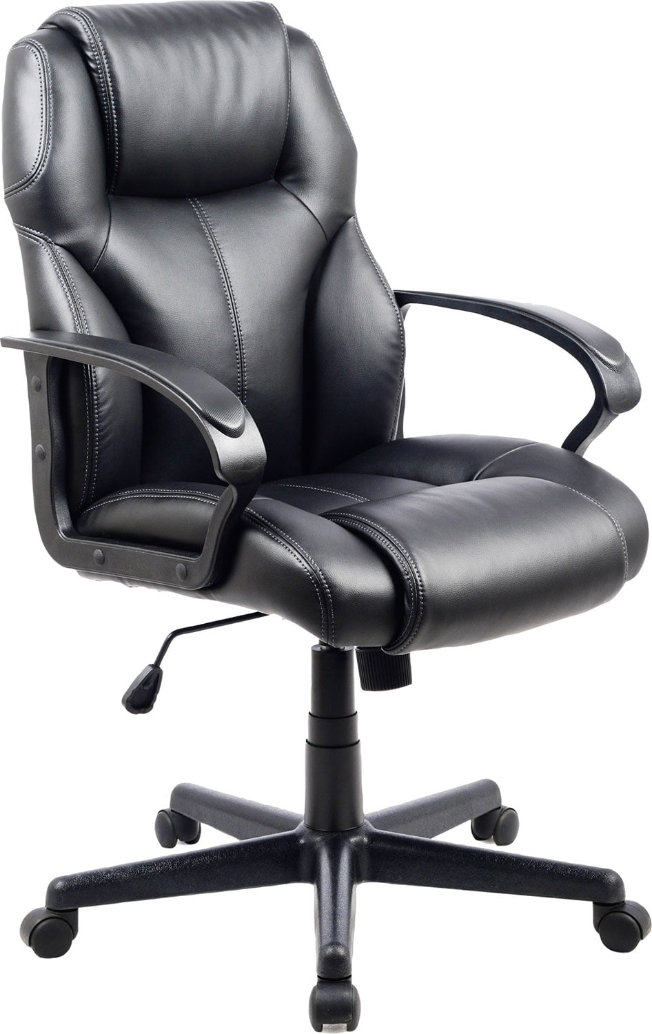 Home Office Furniture - Delson Black Foam-Padded Executive Office Chair