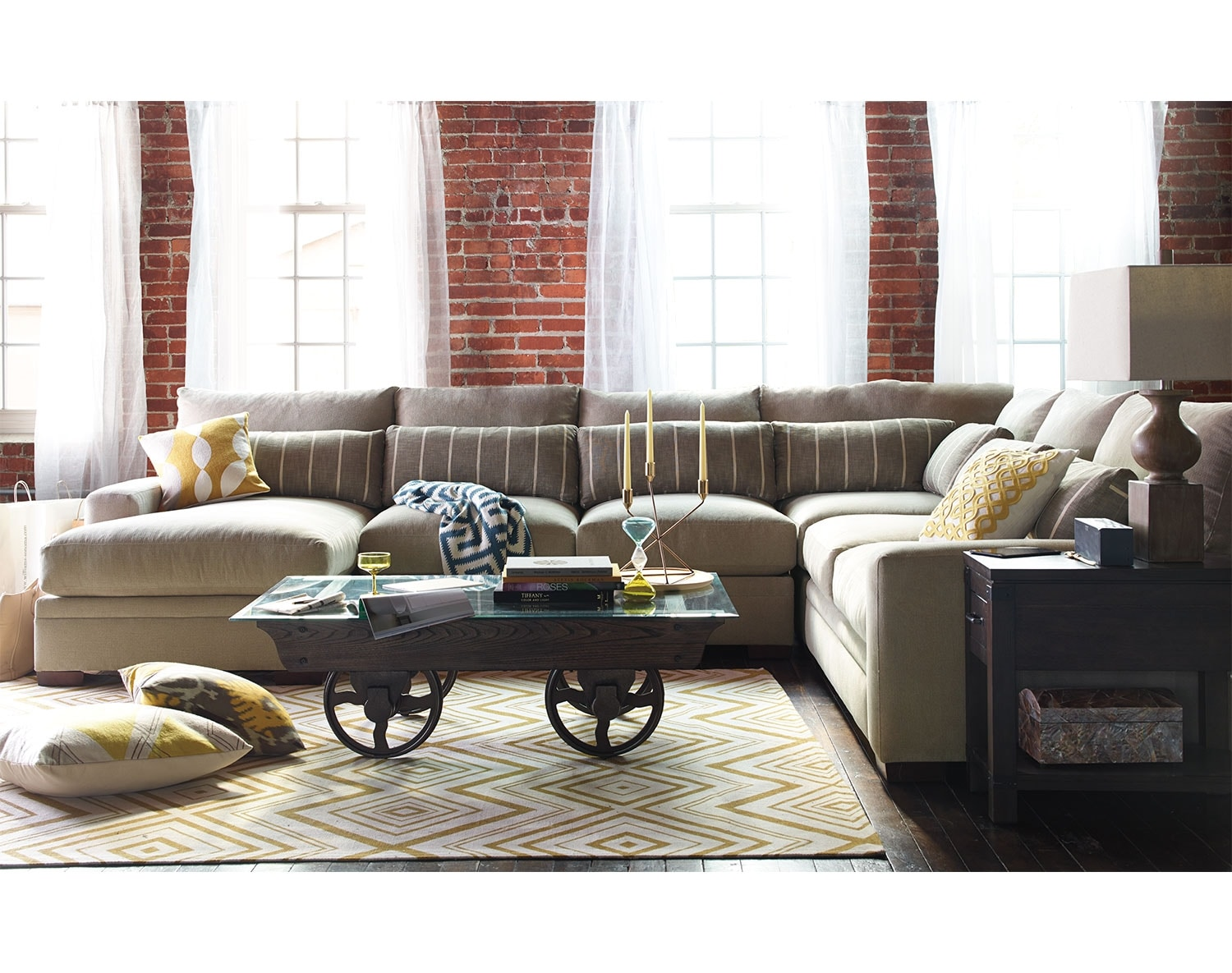 The Ventura Sectional Living Room Collection Value City