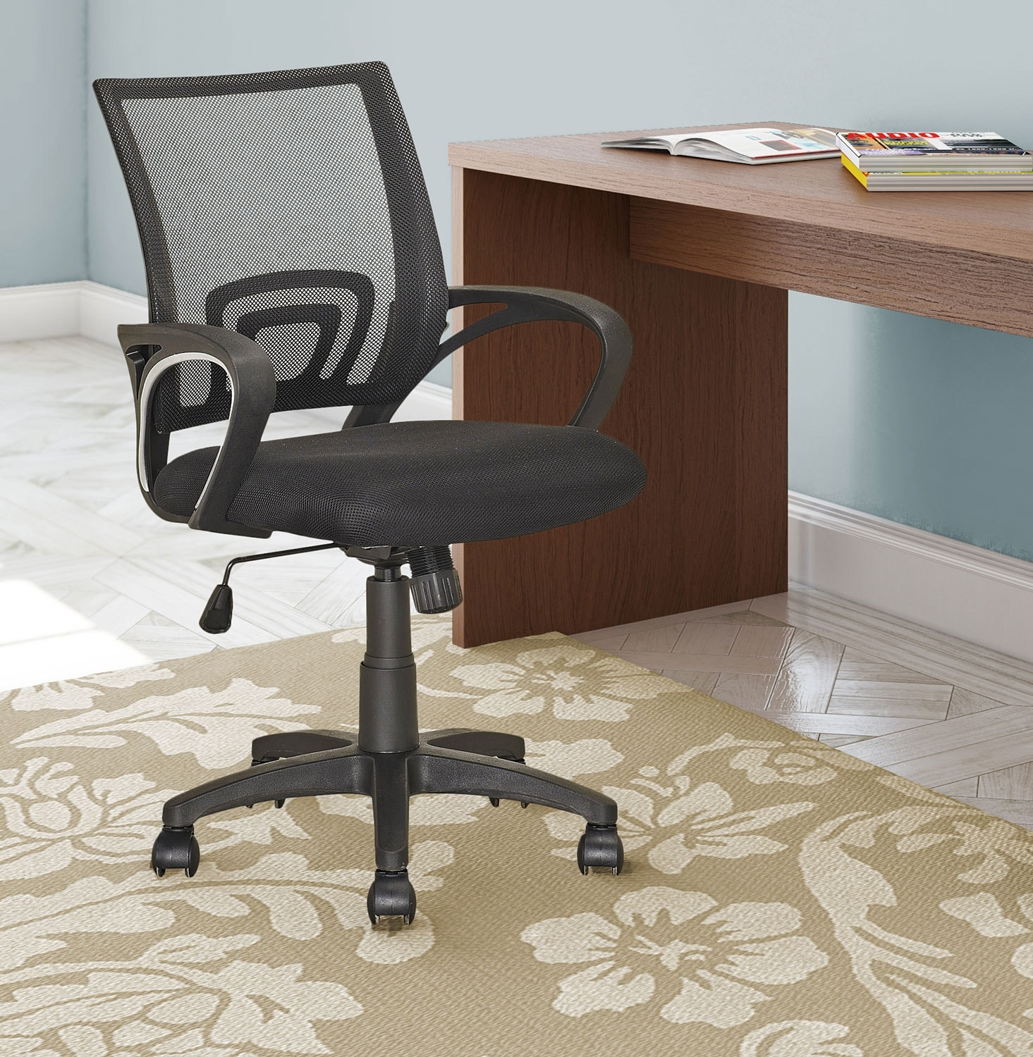 Memphis soft fabric office chair with back support the brick