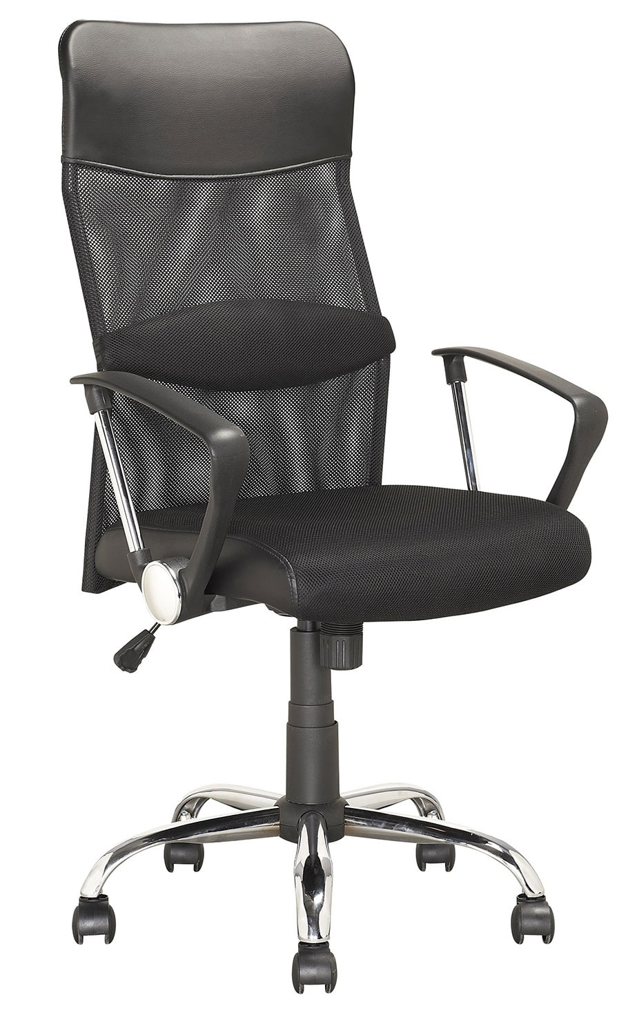 Fontana Foam-Padded Leatherette and Soft Fabric Executive Office Chair