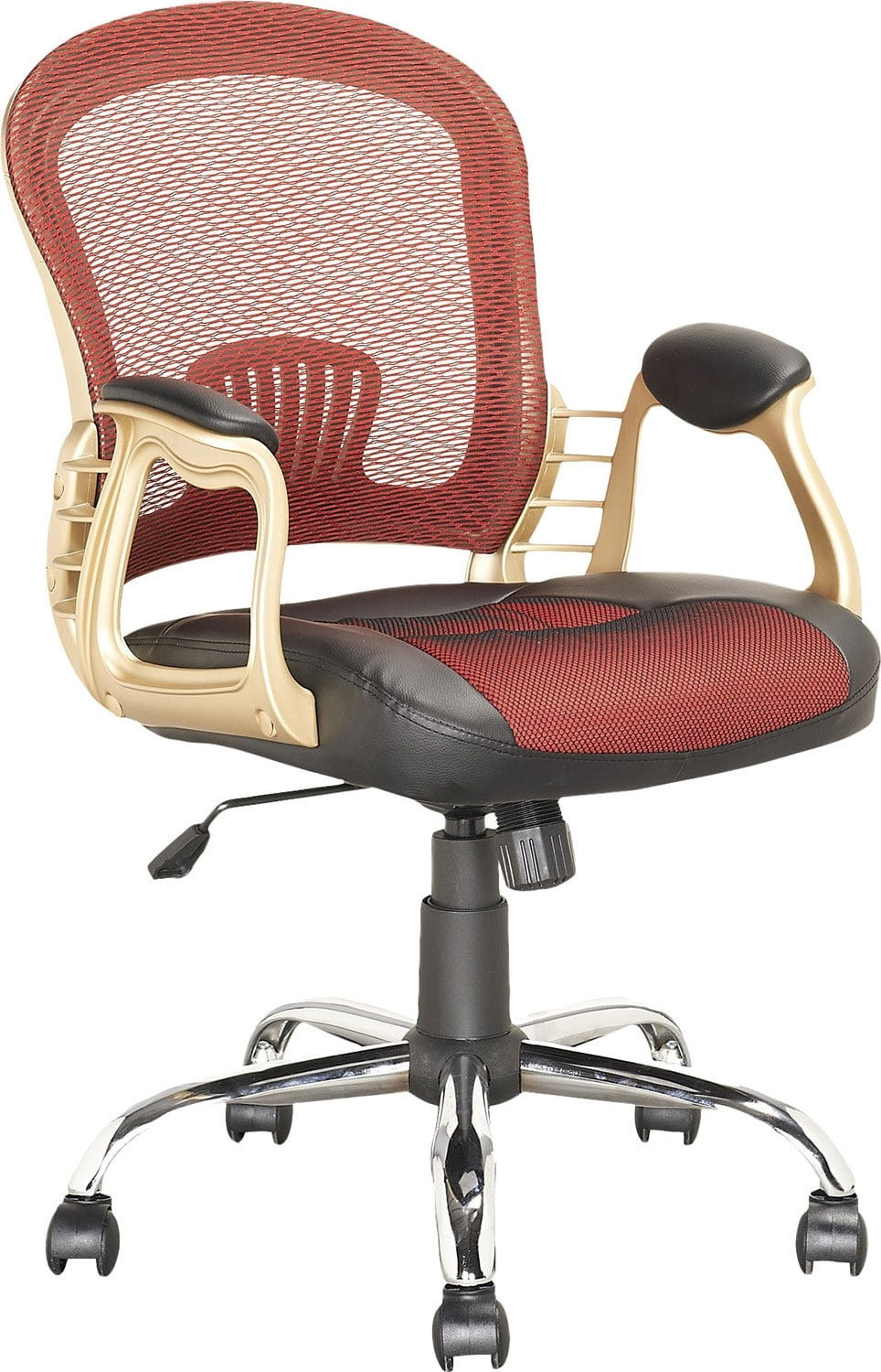 Home Office Furniture - Jacksonville Leatherette and Mesh Executive Office Chair