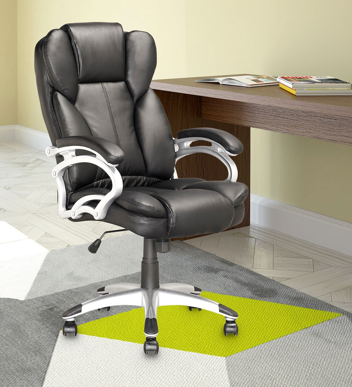 miami foam padded leatherette executive office chair the brick