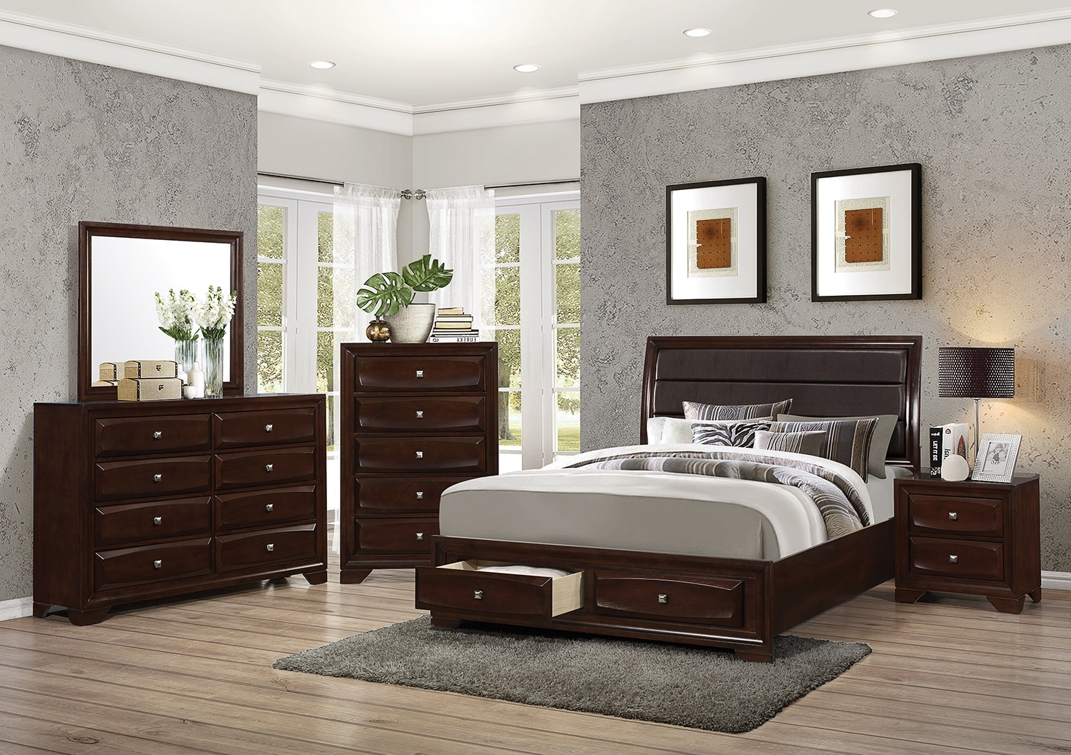 Bedroom Furniture - Jaxon 8-Piece Queen Storage Bedroom Package