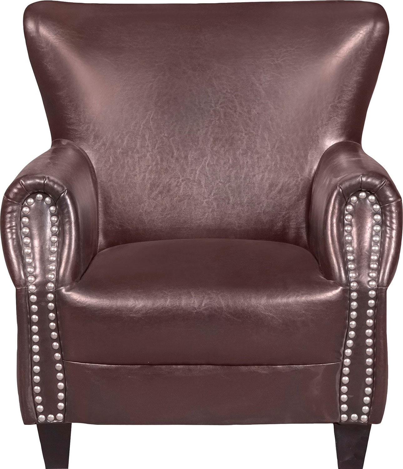 Flint Bonded Leather Accent Chair - Brown