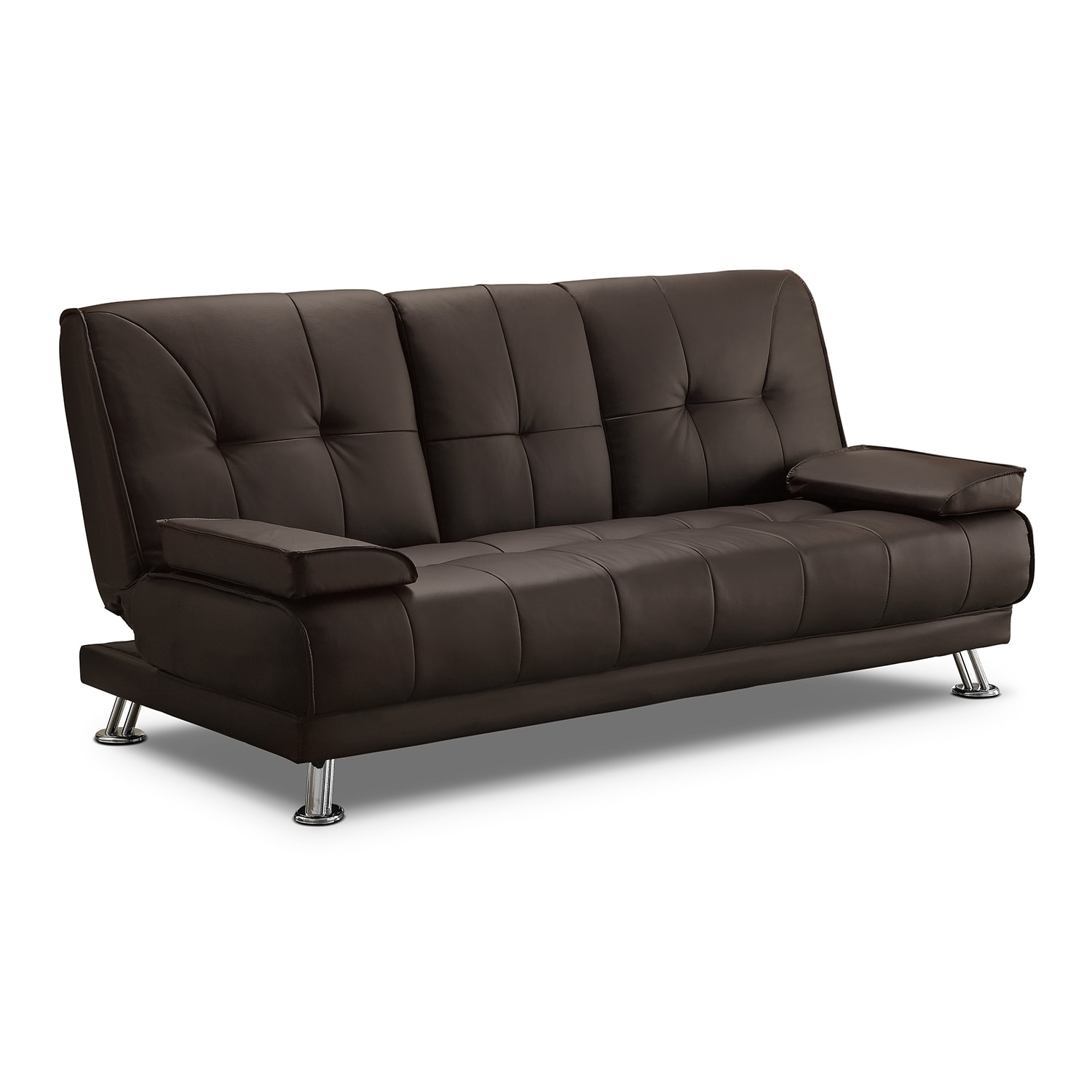 Flash Futon Sofa Bed - Dark Brown