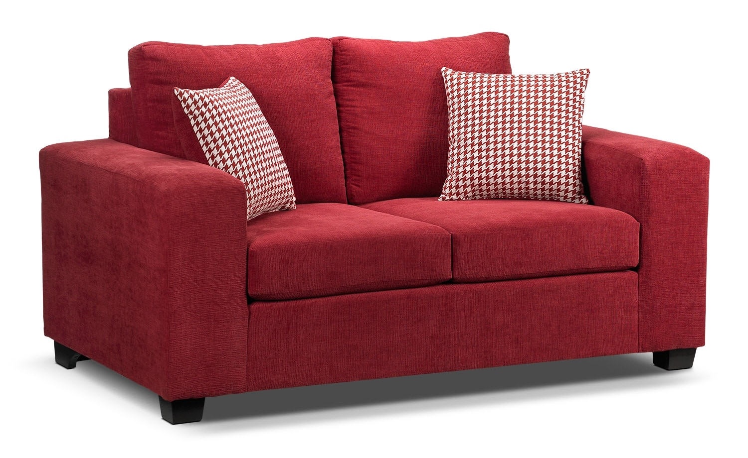 Living Room Furniture - Fava Loveseat - Red