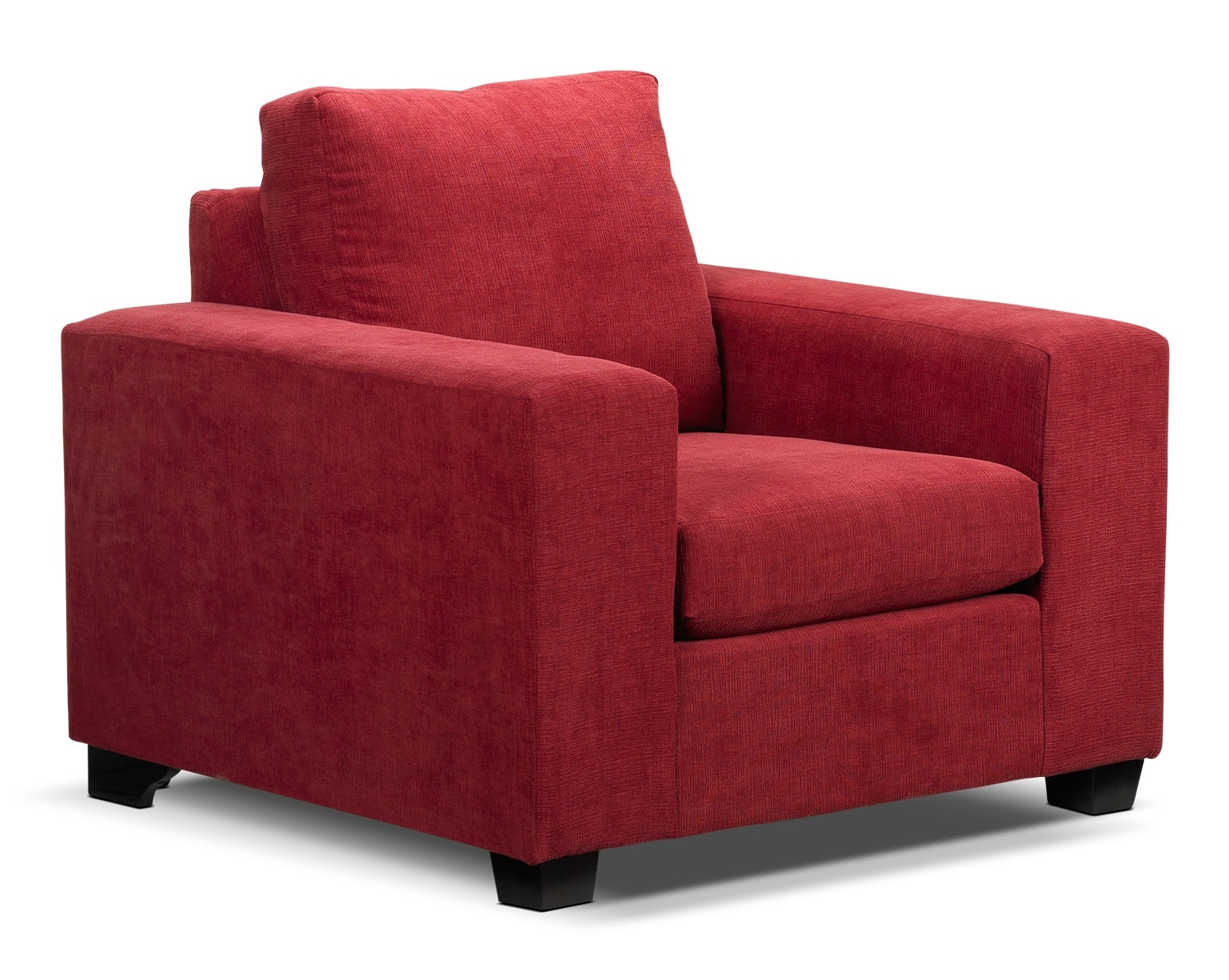 Living Room Furniture - Fava Chair - Red