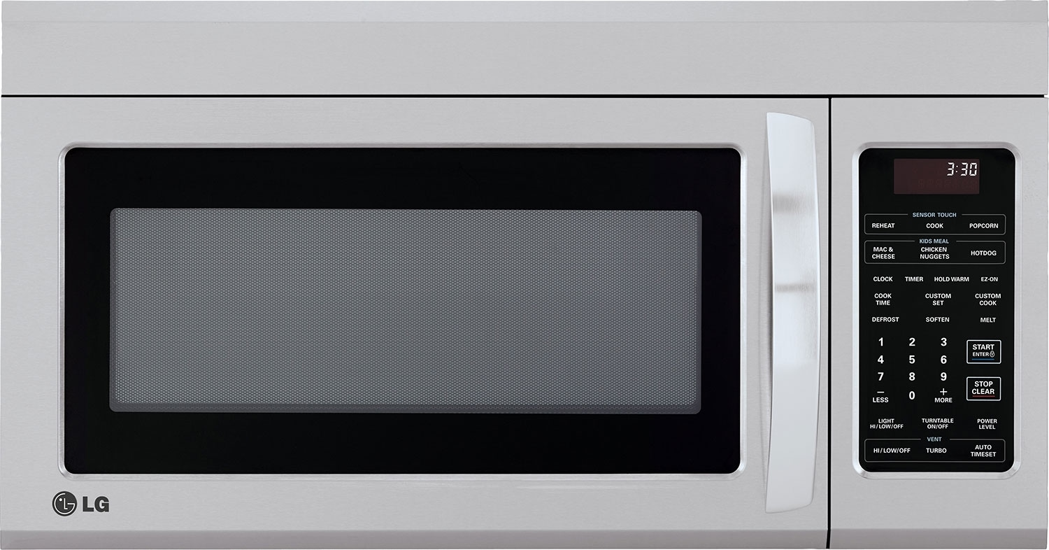 Lg 1 8 Cu Ft Over The Range Microwave Stainless Steel